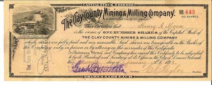 Clay County Mining & Milling Co 1892.jpg (49606 bytes)