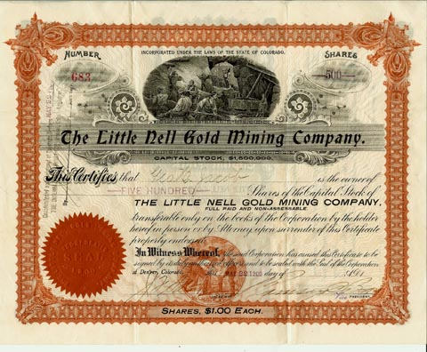 Little Nell Gold Mining Co 1900.jpg (72471 bytes)