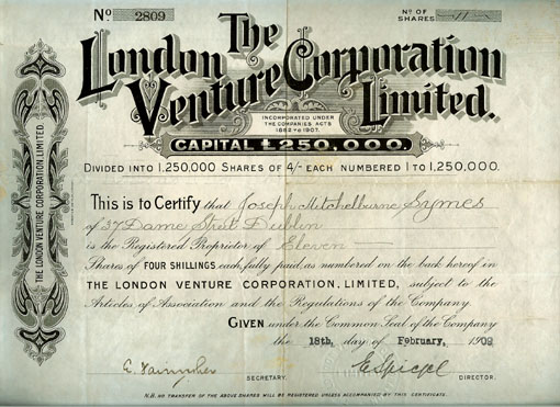 London Venture Corporation Limited 1909.jpg (72166 bytes)