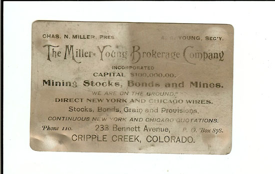 Miller - Young Brokerage Firm business card.jpg (40810 bytes)