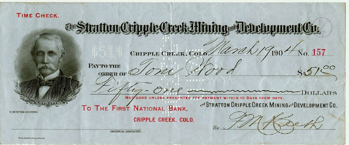 Stratton Cripple Creek M&D check.jpg (66652 bytes)